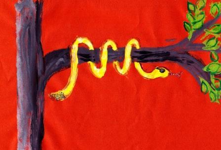 как рисовать змею