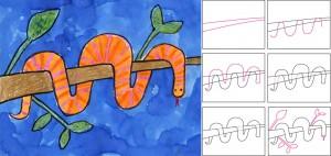 рисуем новогоднюю змею