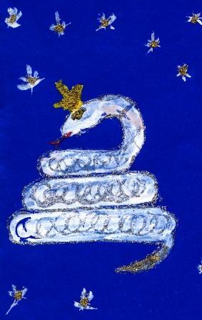 как нарисовать змею