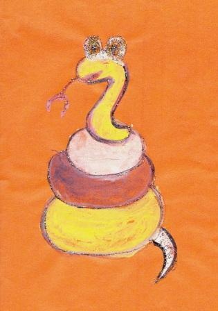 нарисовать змею просто