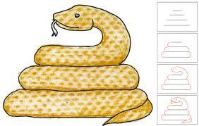 draw a snake, рисуем змею