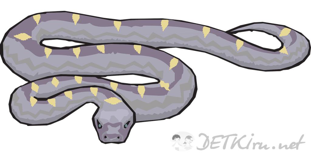 змея картинка для детей 3
