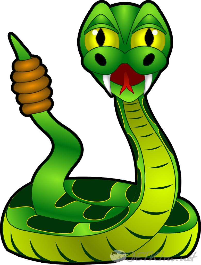 змея картинка для детей 5