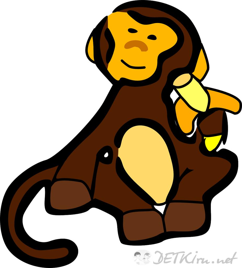 обезьяна картинки для детей 3