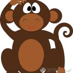 обезьяна картинки для детей 5