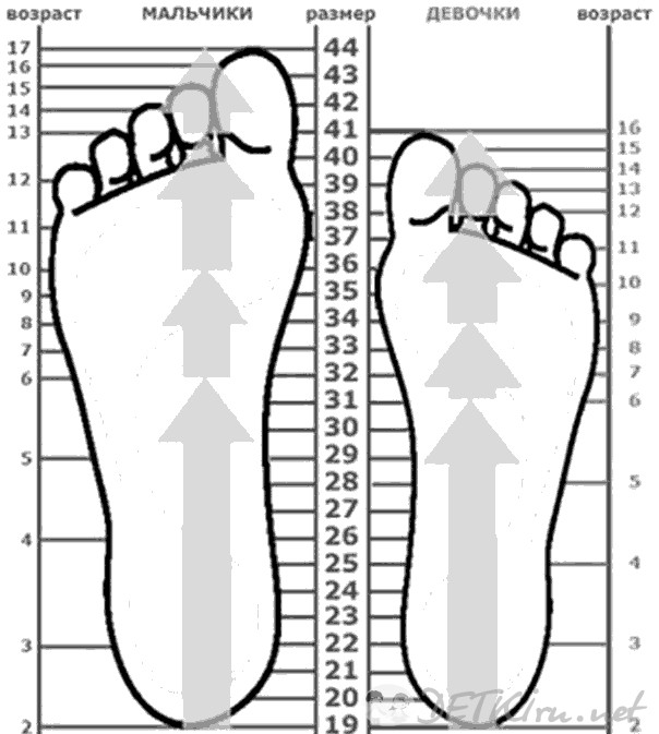 30c844c71603 ТАБЛИЦА примерного соответствия РАЗМЕРА ДЕТСКИХ ШАПОК и возраста ребенка.  Поэтому нужно замерить длину стопы и найти ее соответствие в таблице  размеров.