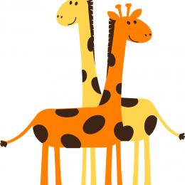 Жираф. Картинки для детей, трафареты